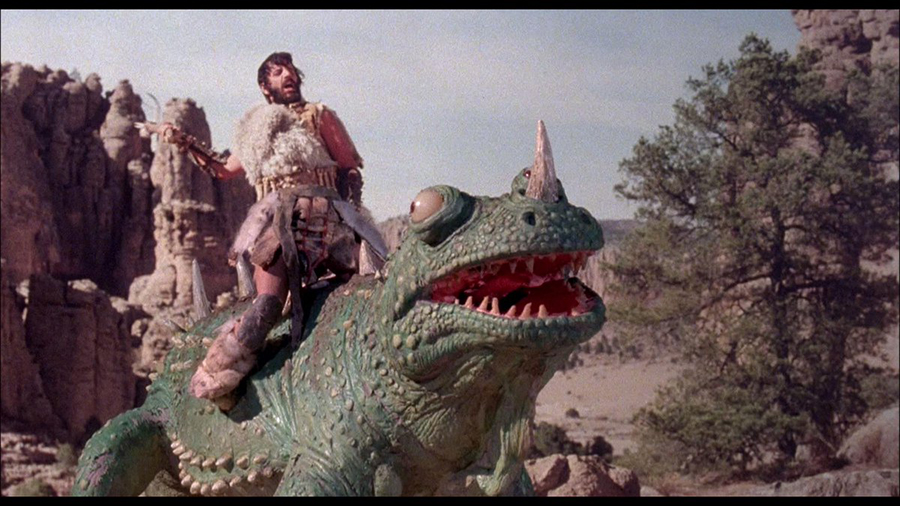 """Caveman: Where @TheBeatles Ringo Starr rides a giant lizard into battle."