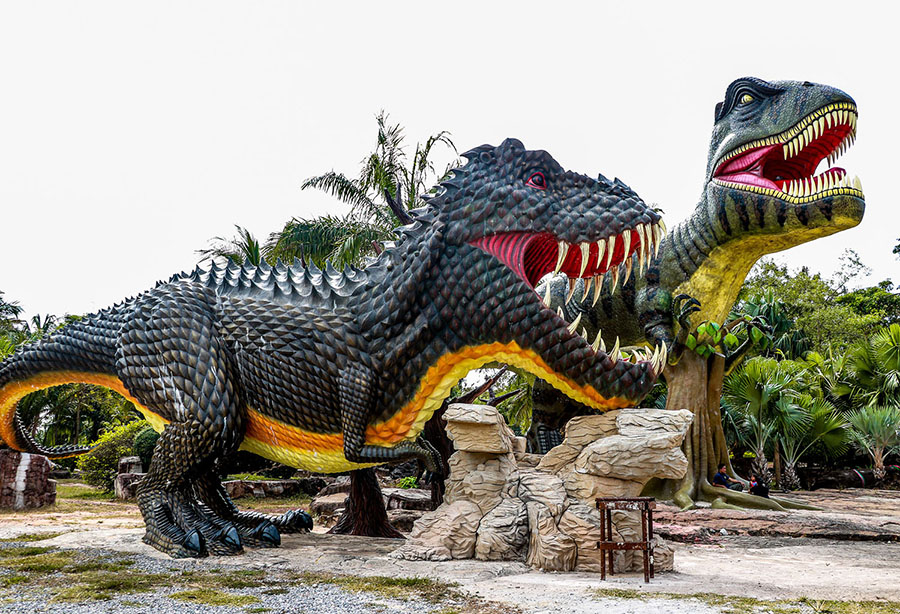 A scene at Prachinburi Dinosaur Park in Thailand, photographed on January 6, 2018 #  Sangpeht Surat / Shutterstock