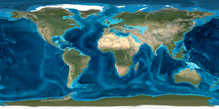The Neogene Period: A map of the world 20 million years ago