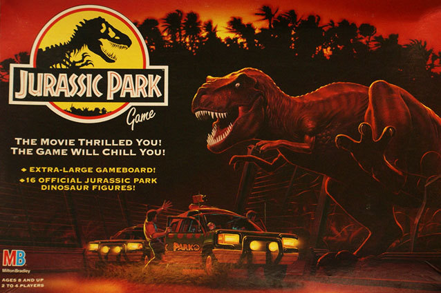 A Jurassic Park board game (which has beautiful box art, by the way)