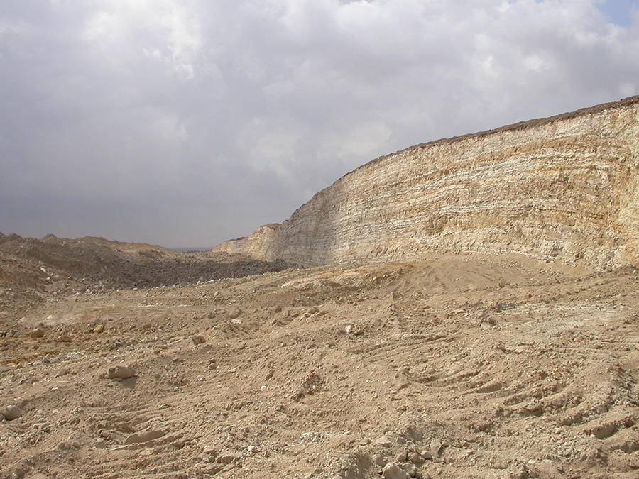 A view of the phosphate quarries in the Ouled Abdoun Basin, Morocco, where the embrithopod fossil was discovered. Photo: Emmanuel Gheerbrant