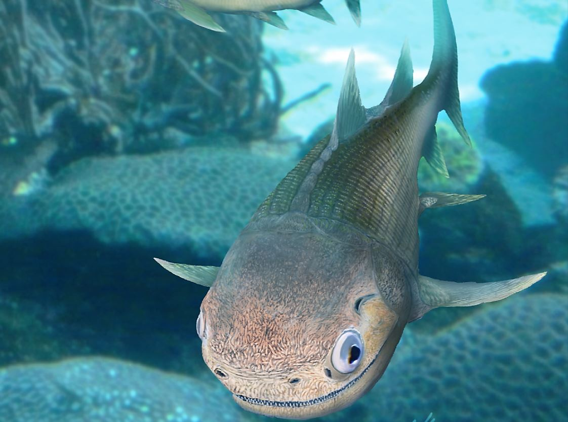 An illustration of the earliest known bony fish, Ligulalepis. BRIAN CHOO, FLINDERS UNIVERSITY PALAEONTOLOGY