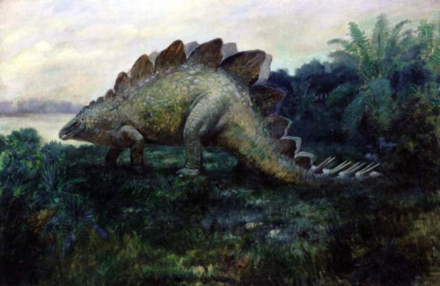 An early depiction of Stegosaurus (Charles R. Knight)