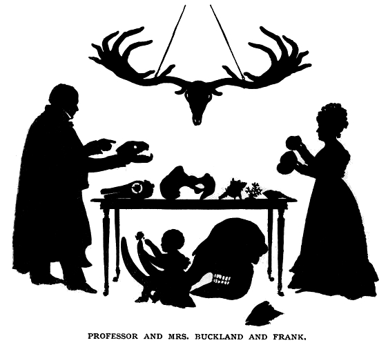 Buckland family silhouette – artist Mary Buckland, née Morland (1797-1857), British palaeontologist. Author: Mary Buckland, née Morland (1797-1857)