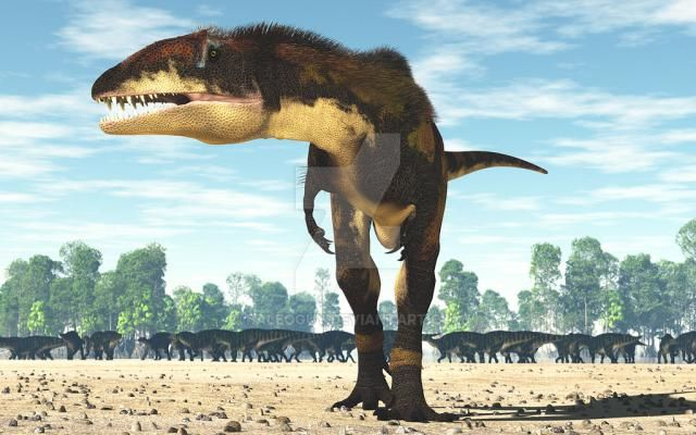 Carcharodontosaurus, an important dinosaur of Africa. Credit: James Kuether