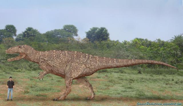 Carcharodontosaurus, an important dinosaur of Africa. Photo Credit: Sameer Prehistorica