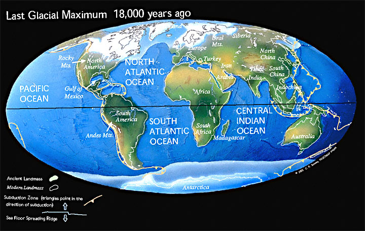 Earth during Pleistocene, 18,000 years ago Timescale