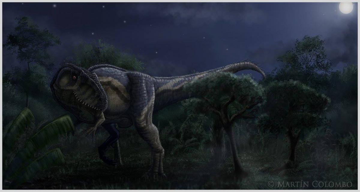 The night is dark, and full of terrors Art by Giganotosaur (Martin Colombo)