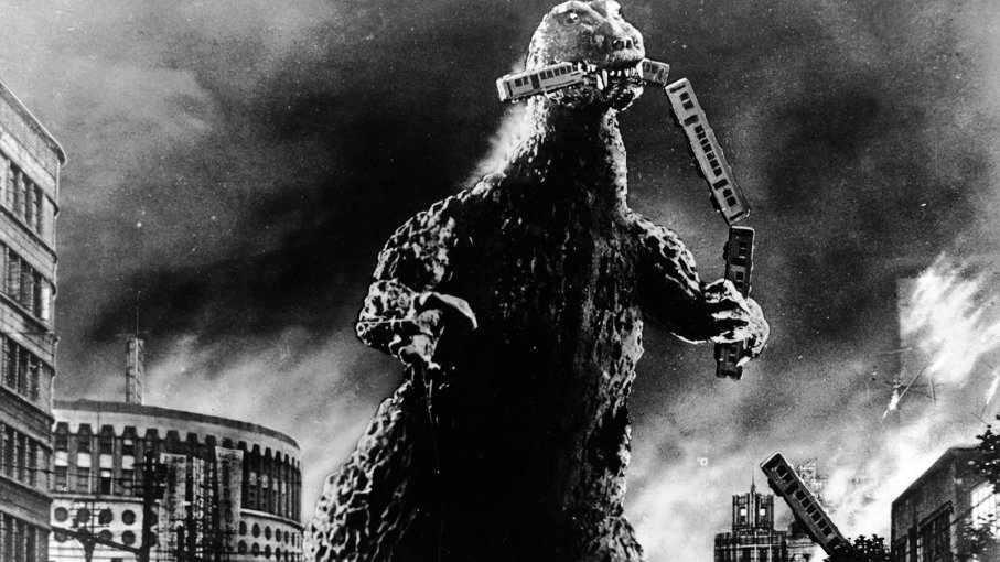 "The first Godzilla movie, titled ""Godzilla"" was produced and distributed by Toho in Japan in 1954. PUBLIC DOMAIN"