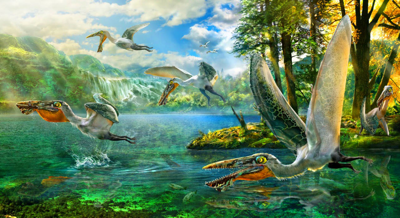 Ikrandraco avatar had about 40 pairs of teeth and a throat pouch for catching fish. Image credit: © Chuang Zhao.