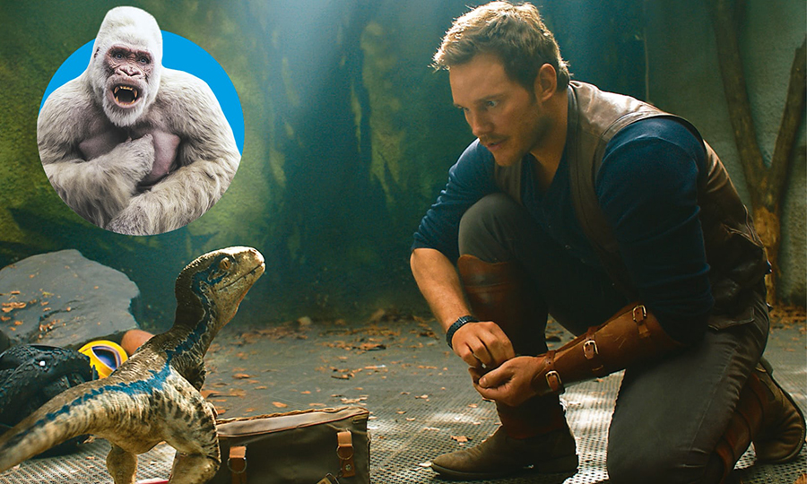 Creature comforts: Rampage (inset), Jurassic World: Fallen Kingdom Composite: The Guide