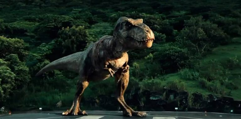 Jurassic World ending – Trex roar footage