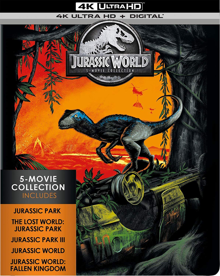 Jurassic World: 5 Movie Collection 4k Blu ray