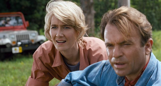 Laura Dern and Sam Neill in Jurassic Park (Picture: Universal)