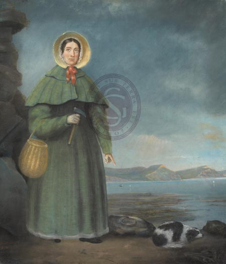 Portrait of Mary Anning.