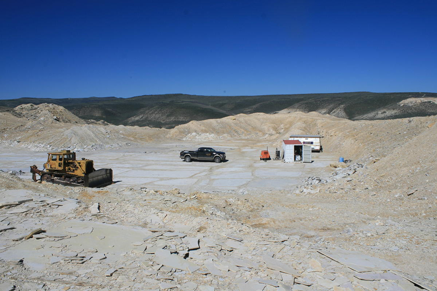 One of Rick Hebdon's state-leased quarry where the tapiromorph fossil was originally found. CREDIT COOPER MCKIM