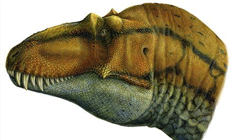 Reconstruction of the skull of Lythronax argestes. Illustration: Lukas Panzarin