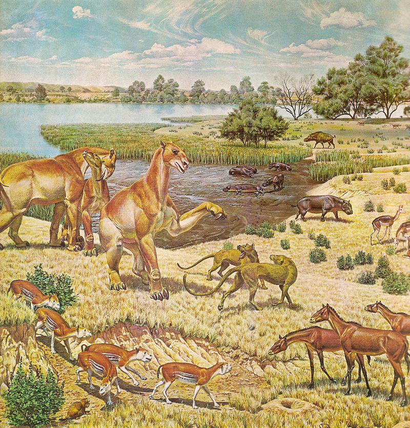 Scene featuring Miocene (Early Neogene) fauna
