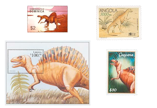 Spinosaurus stamps
