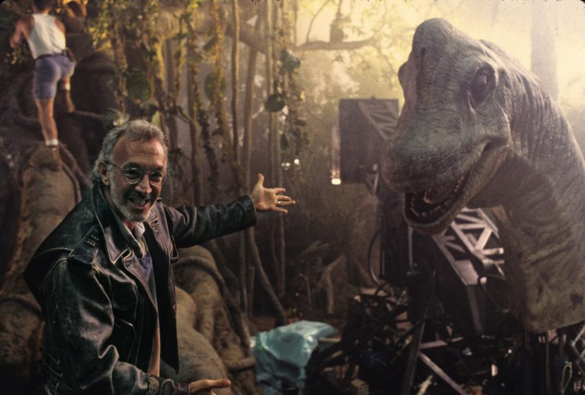 Stan Winston and his Brachiosaurus