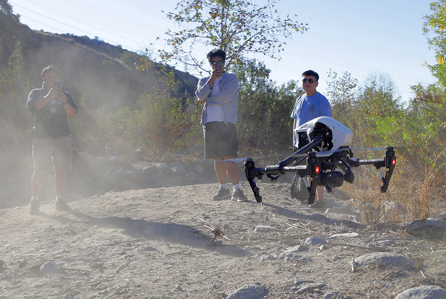 Students Using Drone To Map Dinosaur Tracks In New Mexico