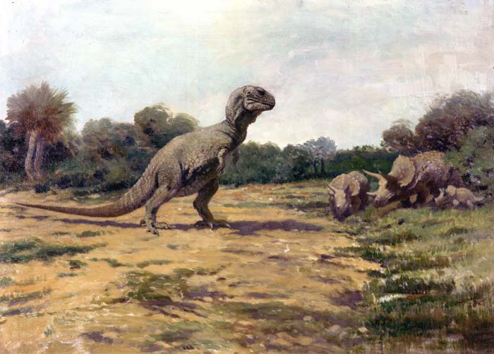 A depiction of a Tyrannosaurus by Charles Knight. Credit: Public domain/Wikimedia Commons