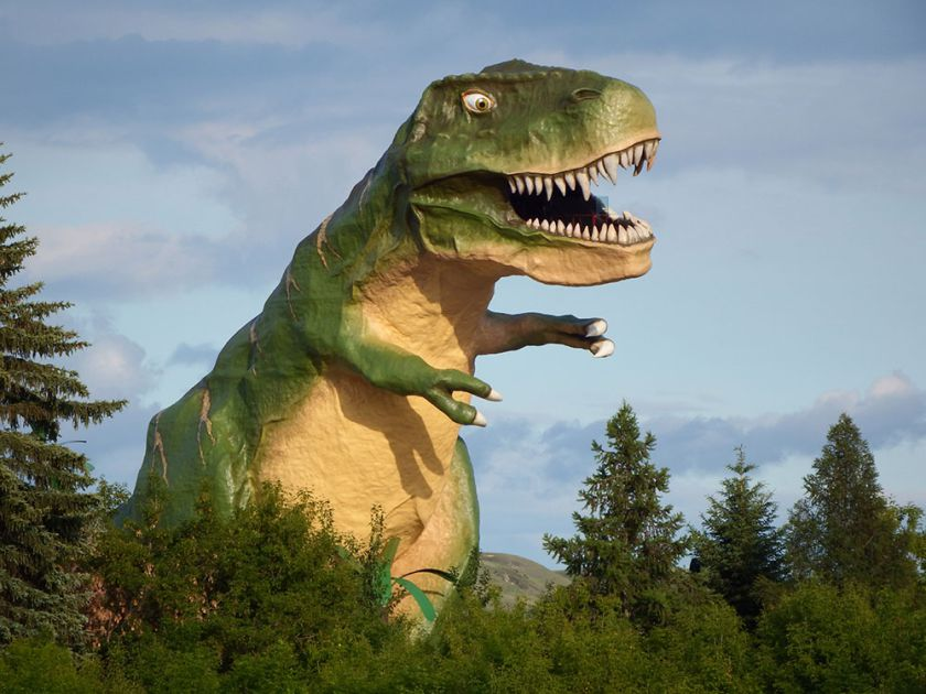 "The ""World's Largest Dinosaur"" structure in Drumheller. PHOTO COURTESY THE DRUMHELLER & DISTRICT CHAMBER OF COMMERCE"
