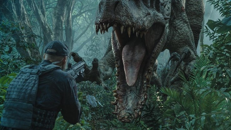 The Indominus rex readies her attack in Jurassic World. - Universal Pictures
