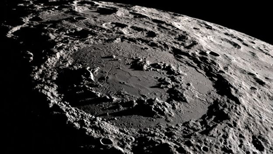 The Moon's Schrödinger Crater, with its inner ring of hills, was made in the same way. NASA SCIENTIFIC VISUALIZATION STUDIO