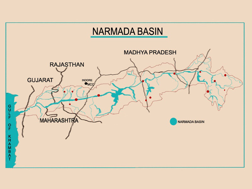 The dinosaur trail along the Narmada river (Courtesy: HarperCollins Children's Books)