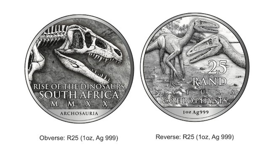 The dinosaur-themed collectable coin will feature Coelophysis rhodesiensis, a two-legged carnivore that grew to a relatively diminutive 3 metres tall.