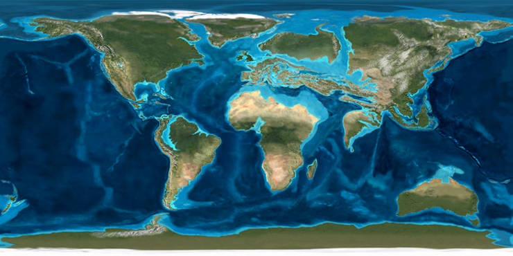 The world in the Paleogene Period