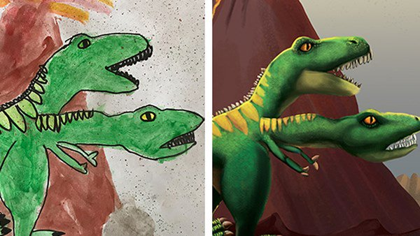 This Paleontologist Brought Children's Dinosaur Drawings to Life and it's all Kinds of Cute