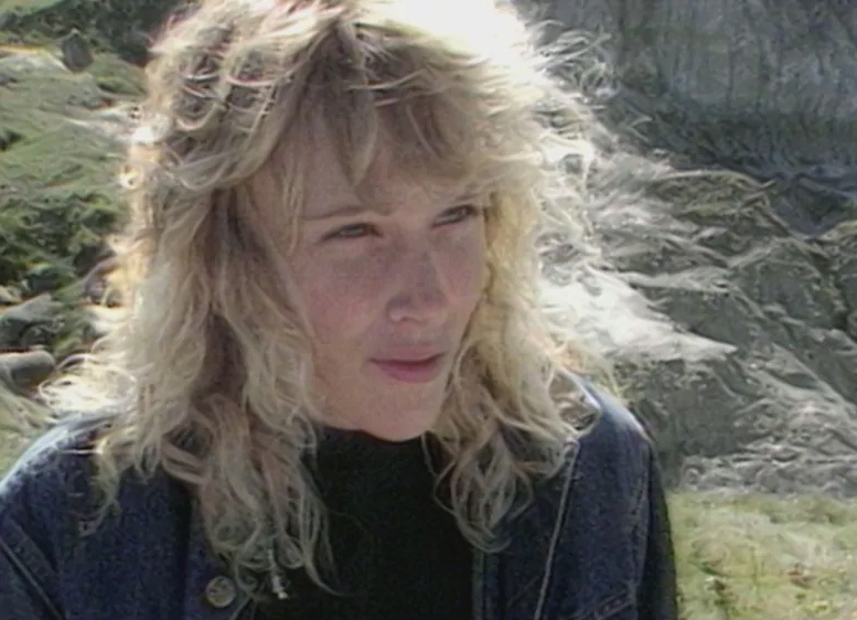 Wendy Sloboda is seen discussing the find with CBC in September of 1987. (The National/CBC Archives)