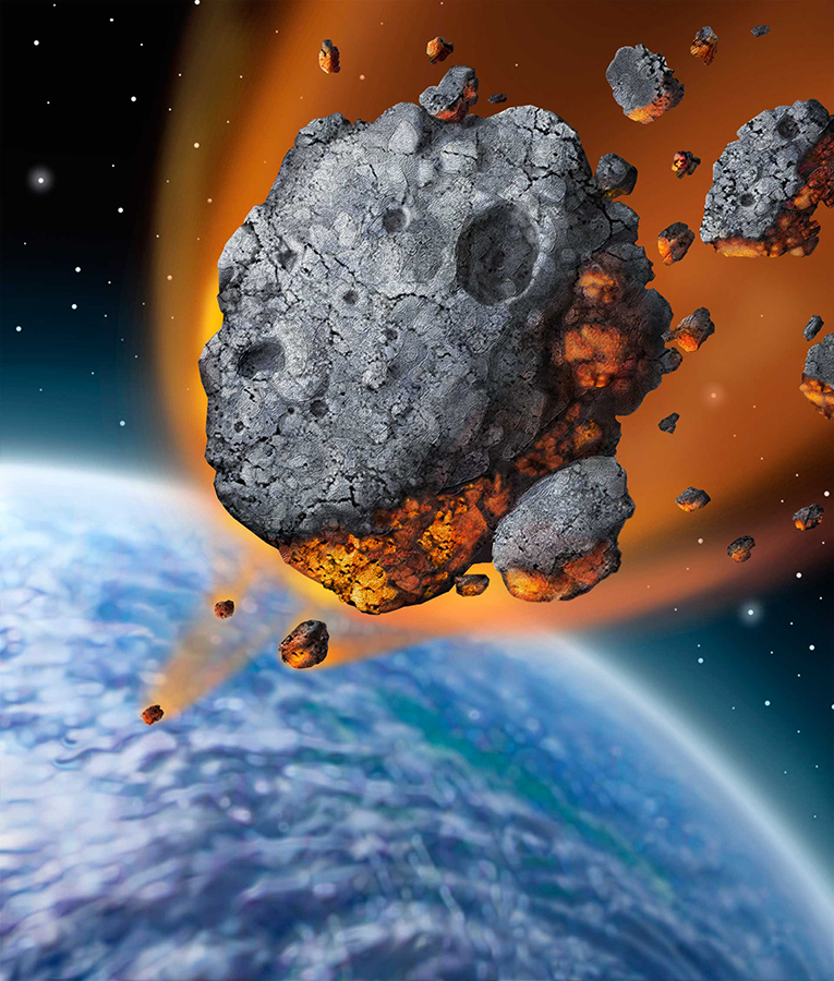An artist's impression of an asteroid hitting the Earth. Image credit: State Farm / CC BY 2.0.
