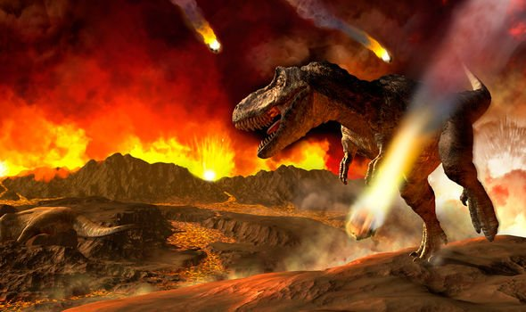 An asteroid strike 66 million years ago put an end to the dinosaurs (Image: GETTY)