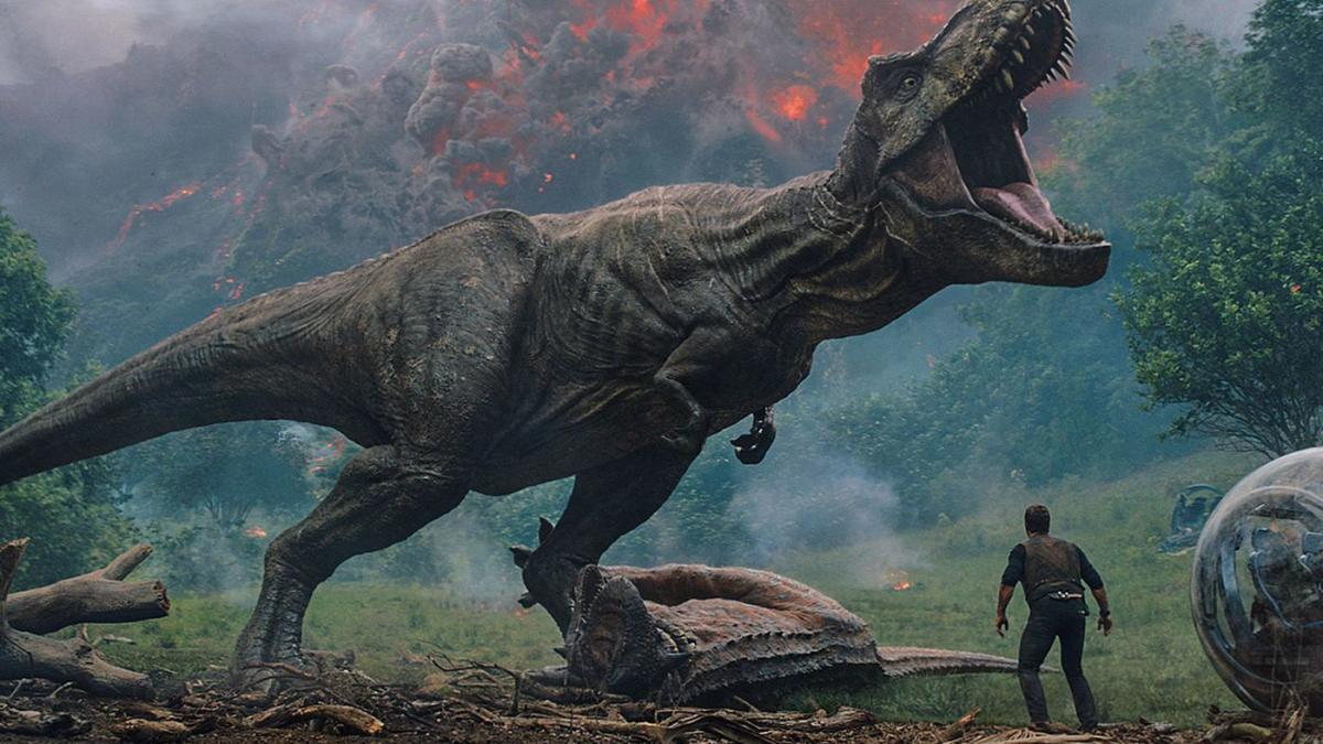 "Rexy in the film ""Jurassic World: Fallen Kingdom."" (Universal Pictures / Amblin Ente / Legendary Pictures)"