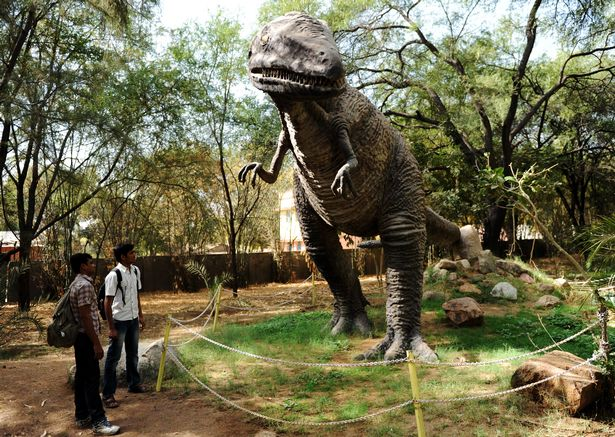 A model Megalosaurus at the Dinosaur and Fossil Park in Gandhinagar, India (Image: SAM PANTHAKY/AFP/Getty Images)